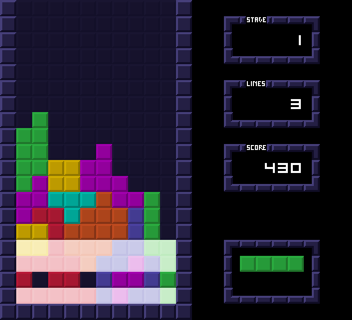 Clearing a gap in Tetris